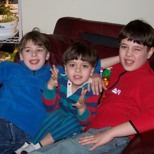 boys in chair